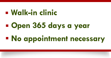 Welcome to Shelbourne Medical Clinic, open 365 days a year - no appointment necessary.